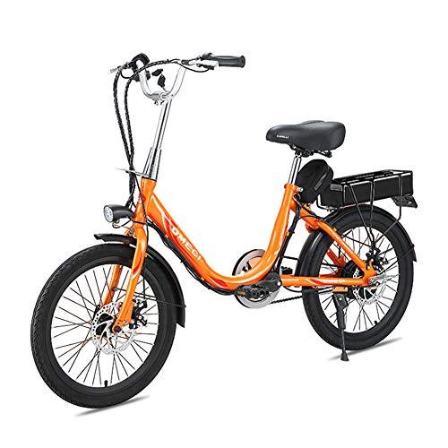 """HLeoz 20"""" Vélo électrique, Vélo de Ville léger pour Femme avec Batterie au Lithium-ION Amovible de 48V 8Ah/10Ah et Moteur sans Balai de 400W avec Panier de Vélo Frein à Disque,10Ah"""