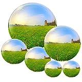 6 bolas de acero inoxidable para decoración de jardín, 50 – 150 mm, bola hueca reflectante de jardín