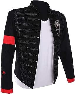 MJ Michael Jackson Jacket Men Military Outfit Rare Punk Formal Dress Classic England Style Belt T-Shirt Set Best Gift Black