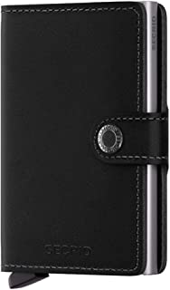 Secrid mini wallet genuine black leather with RFID protection/with one click all cards slide out gradually
