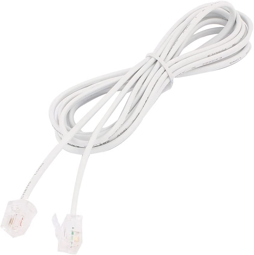 Same day shipping uxcell RJ11 6P2C Popular products Telephone Phone Cord Extension White Cable Line