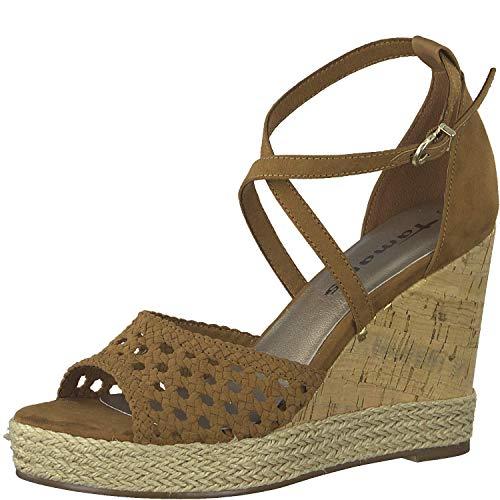 Tamaris 1-1-28024-32, dames wigvormige sandalen, zomerschoen