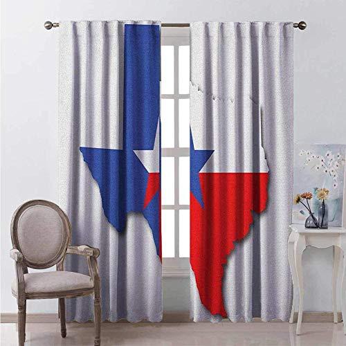 Eth 3D Verdunkelungs Vorhang Gardine Polyester Textil Texas Sternschatten Texas Karte 280 * 300Cm Blackout-Vorhänge, Geeignet Für Kinderzimmer Im Kindergarten