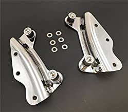 HTTMT MT503-002- Chrome Steel Rear Fender Rack Plated Luggage Shelf Four Point 4-point Docking Hardware Kit Compatible with Harley Fits '09-'13 FLHR, FLHRC, FLHT, FLHX, FLTR, and FLTRX, FLHRSE5