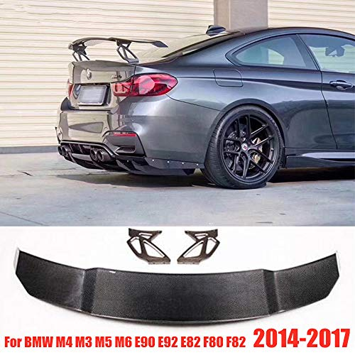 HJHNB V Style Carbon Car Styling Heckspoiler Rear Spoiler für BMW M4 M3 M5 M6 E90 E92 E82 F80 F82, 2014-2017