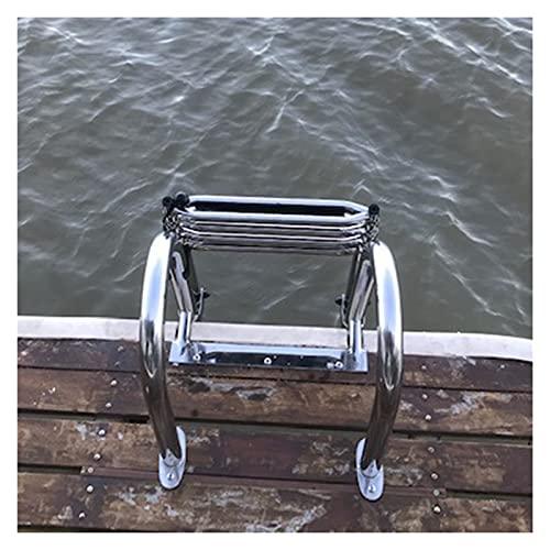 Escalera Barco Piscina Escalera de baño Escalera de piscina para barco Plegable Escalera telescópica Entrada trasera Escaleras Marine Ponton con pasamanos y accesorios grandes para personas mayores