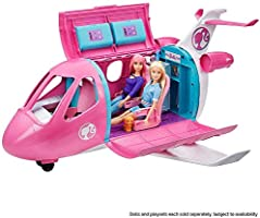 Barbie Dreamplane Transforming Playset with Reclining Seats and Working Overhead Compartments, Plus 15+ Pieces Including...