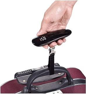 QCRLB 50g50kg Baggage, Portable Luggage Scale, Express Parcel Scale, Electronic Scale, Portable Scale (Color : Black)
