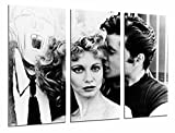 Cuadros Camara Poster Fotográfico Decoracion Vintage Personajes Grease, Blanco y Negro Tamaño total: 97 x 62 cm XXL, Multicolor