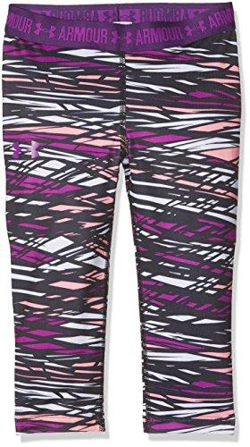 Under Armour Printed Armour Capri Pantalones Pirata, niña, Purple Rave, XL