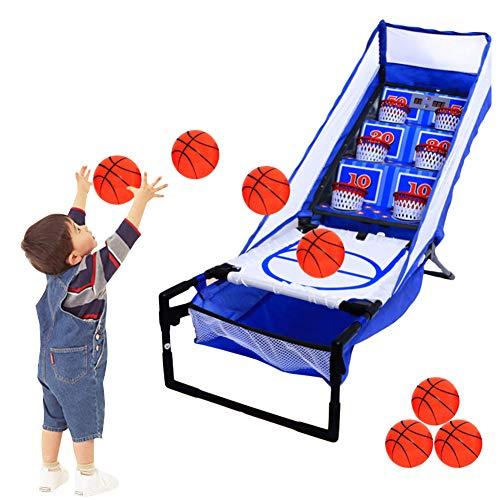 Calistouk Soporte de Baloncesto de puntuación electrónica para niños,Máquina de Juego de Tiro Interior,Juguete de Pelota Deportiva al Aire Libre + 3 Pelotas de Baloncesto