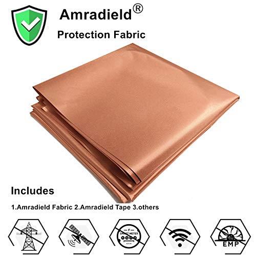 Tela de cobre bloqueo RFID/RF-Reduce EMF/EMI Protección Conductiva para Medidores Inteligentes Evita la Radiación/Singal/WiFi Color Dorado