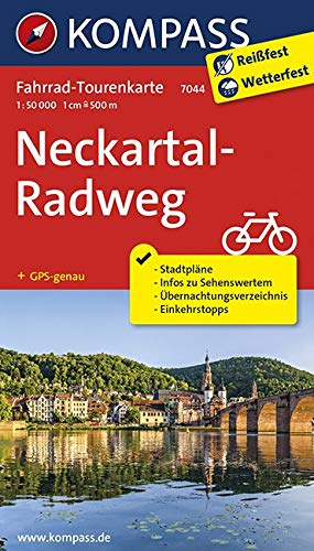 Fahrrad-Tourenkarte Neckartal-Radweg: Fahrrad-Tourenkarte. GPS-genau. 1:50000. (KOMPASS-Fahrrad-Tourenkarten, Band 7044)