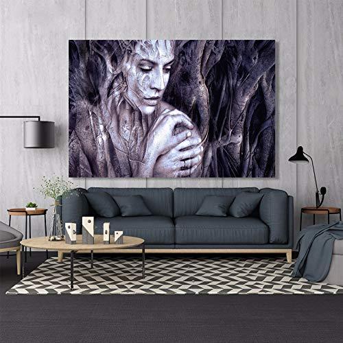 Moderne affiches en prints wandkunst canvas schilderij houtsnijwerk vrouwelijk portrett woonkamer decoratief schilderij huishoudtextiel zonder lijst