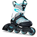 K2 Skates Mädchen Inline Skate Marlee — black - grey - light blue — S (EU: 29-34 / UK: 10-1 /...