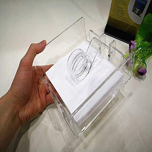 zhtao Caja De Pañuelos Acrílico Restaurante Plástico Papel Toalla Toallero Papel Toalla grande Puede poner una toalla de papel interior de 14 cm