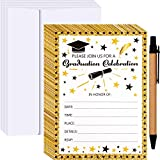 Zonon 30 Pieces 2020 Graduation Invitation Cards Grad Celebration Announcement Cards with 30 Pieces Envelopes for High School or College Graduation Party