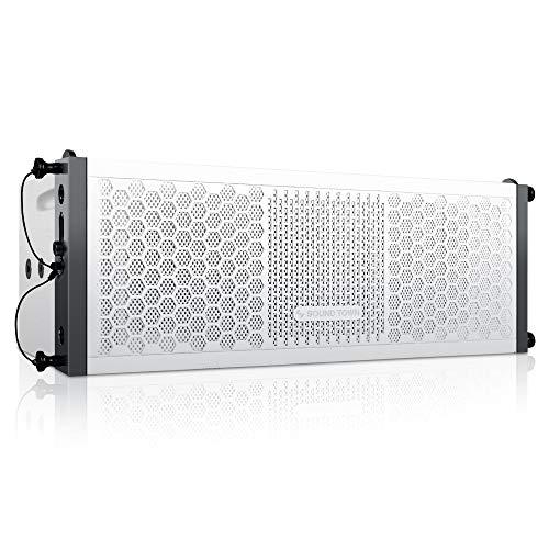 "Sound Town ZETHUS Series 2 X 5"" Line Array Loudspeaker System with Titanium Compression Driver, White (ZETHUS-205WV2)"