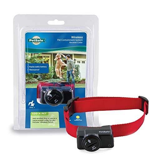 PetSafe Wireless Pet Containment System Receiver Collar Only for Dogs and Cats Over 5 lb, Waterproof with Tone and Static Correction - from The Parent Company of Invisible Fence Brand