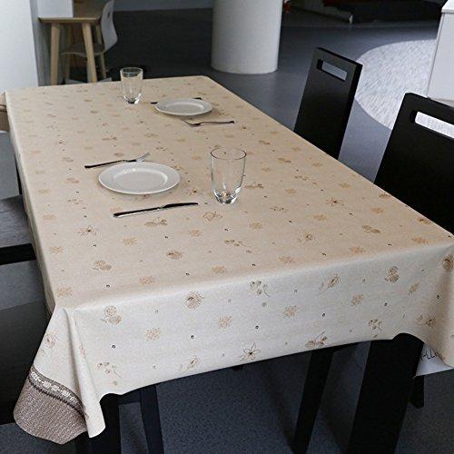 Nappes Facile essuyez Les Clips en Plastique de PVC du Rectangle Lavable de dîner pour des Parties Salle à Manger Garden Hotel Cafe Restaurant Anniversaire Rural Floral-A 65x65cm(26x26inch)