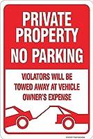 126新しいブリキの看板駐車場なし-違反者は車両の所有者に牽引されます費用アルミニウム金属道路標識壁の装飾8x12インチ