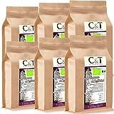 C&T Bio Espresso Crema | Cafe entkoffeiniert 100 % Arabica 6x1000 g ganze Bohnen Gastro-Sparpack im...