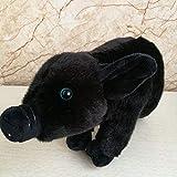 LYXBWT Pequeño Cerdo Dulce Regalo de Juguete de Felpa muñeca Linda niños Mascota muñeca 25cm Cerdo Negro