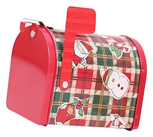 XIAOGING Decorazioni di Natale Creativo del Ferro Posta/Lettera/Post/Holder Cassetta for giornali - Cartoon griglia...