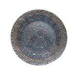 """American Atelier Charger Large 13"""" Decorative Glass Round Plate for Home & Professional Fine Dining, Upscale Events, Dinner Parties, Weddings, Catering, Rainbow"""
