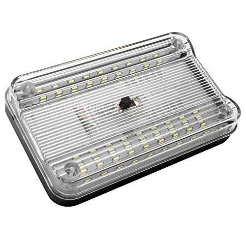 Interni auto luce–Maso 36LED interni auto cupola luce bianca tetto soffitto lampadina 12V furgone veicolo luce con interruttore 3Gear–Controllo porta, Steady, Close
