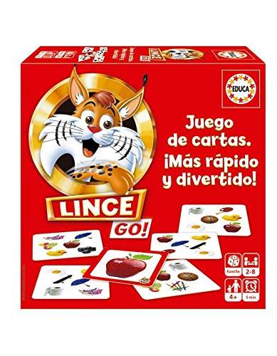 Educa - Lince Go, versión cartas, juego de mesa familiar qu