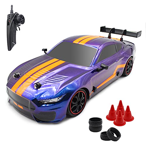 Hitish RTR RC Drift Car, 1:14 Large Scale 2.4G Remote Control Super Sport Racing Car, 4WD High Speed 35km/h Fast Hobby Toy Drifting Race Car Vehicle for 8+ Kids Teens and Adults