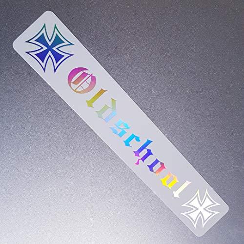 folien-zentrum Lámina Central Oldschool Hierro Cruces Color Blanco Holograma Oilslick Rainbow Flip Flop Pegatinas Metallic Efecto Shocker Auto JDM Tuning OEM Dub Decal Sticker Illest Dapper Oldschool