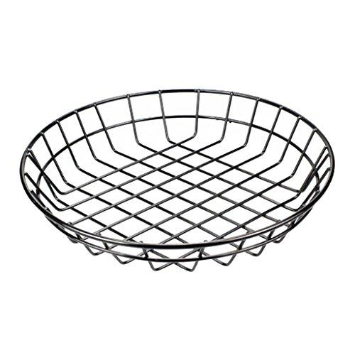 perfk Frutero de Metal Soporte de Canasta Estante de Placa de Alambre de Metal Almacenamiento de Cocina S L - L