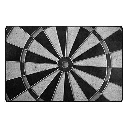 Bennigiry Spiel Dart Board Wheel Bereich Teppich Super Soft Polyester Große Rutschfeste Modern Bad-Teppiche für Schlafzimmer Wohnzimmer Hall Abendessen Tisch Home Decor 152,4 x 99 cm, 60 x 39 inch