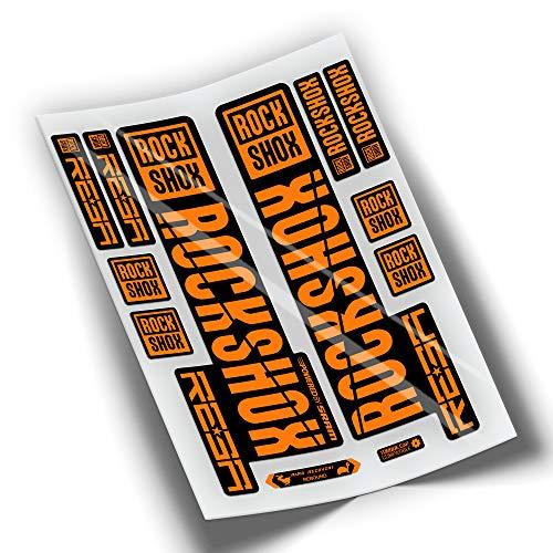 PEGATINEA Decals Autocollants DE Fourche ROCKSHOX REBA 2019 WP271 Orange
