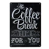 20x30cm Jahrgang Metall Blechschild Plaque Wandkunstplakat Café Bar Pub Kaffee # 3