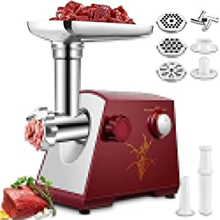 Electric Meat Grinder, 2800W Stainless Steel Meat Mincer Sausage Stuffer, 3 Different Cutting Plates, Sausage And Kit Incl...