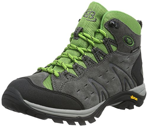 Bruetting MOUNT BONA HIGH, Unisex-Erwachsene Trekking- & Wanderschuhe, Grau (GRAU/GRUEN), 36 EU (3 Erwachsene UK)
