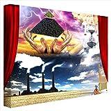 CCRETROILUMINADOS Composición Surrealista Cuadros Retroiluminado, Metacrilato, Multicolor, 60 x 60 x 5,3