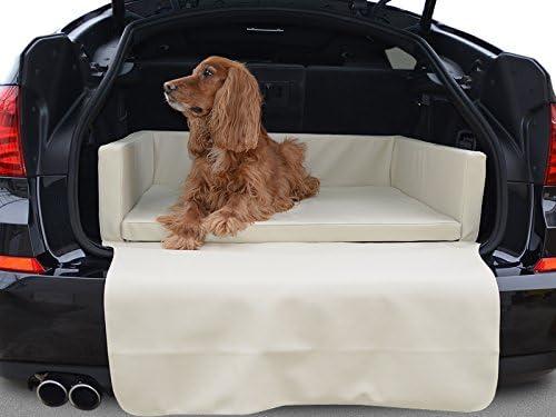Travelmat Basic Kofferraum Hundebett Fürs Auto Standard Kunstleder Creme 100 X 80cm Haustier