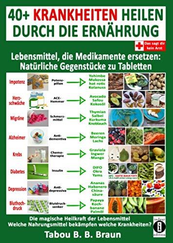 40+ Krankheiten heilen durch die Ernährung - Lebensmittel, die Medikamente ersetzen: Natürliche Gegenstücke zu Tabletten: Die magische Heilkraft der Lebensmittel: Welche Nahrungsmittel bekämpfen welch