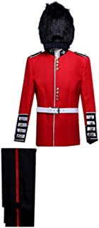 ROLECOS Mens British Royal Guard Soldier Fancy Dress Medieval Performing Costume