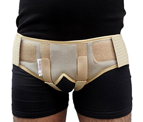 Wonder Care® Hernia Support - Groin Hernia Support for Men, 2 Removable Compression Pads & Adjustable Groin Straps, Double inguinal Hernia Support for Men -L