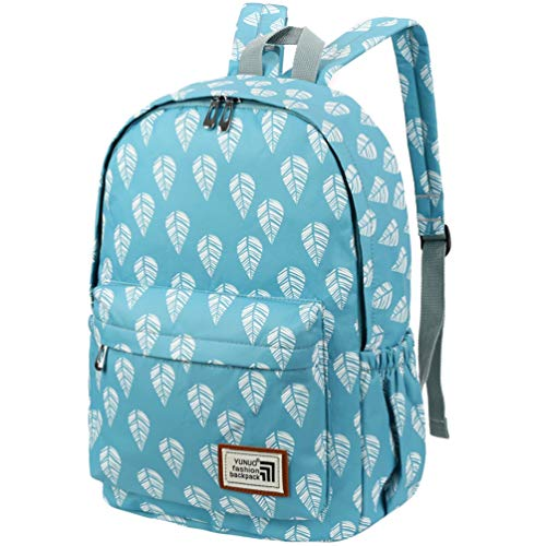 Vbiger School Backpack for Girls Boys for Middle School Cute Bookbag Outdoor Daypack (Light Blue1)