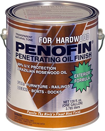 Penofin Deep Penetrating Oil Treatment for Exotic Hardwood Exterior, Wood Stain IPE Finish (1 Gallon)
