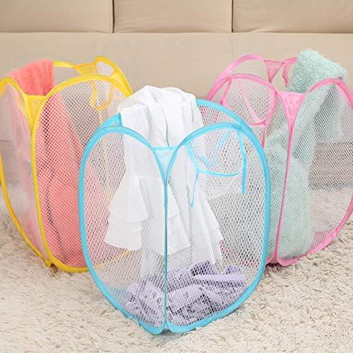 LCZMQRCLMZRQ Opvouwbare pop-up waszak wasmand zak vuile wasmand mesh opbergmand voor vuile kleding, willekeurige kleur