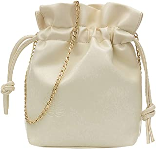 Natarura Women's Simple All-Purpose Small Bucket Bag Single Shoulder Messenger Bags