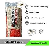 PELLET SALZBURG 100% ABETE AUSTRIACO - ENPLUS A1 - ALTO POTERE CALORIFICO (30 Sacchi da 10 kg)