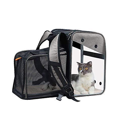 Queta Mochilas para gatos y perros con apertura frontal transparente o de...
